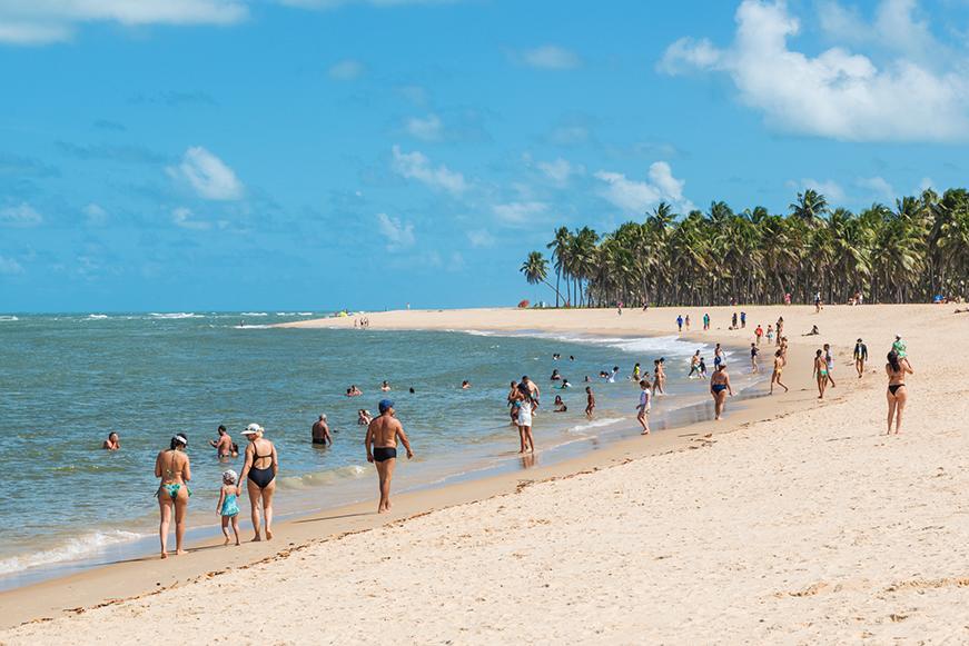 Praia do Gunga - Areia branca