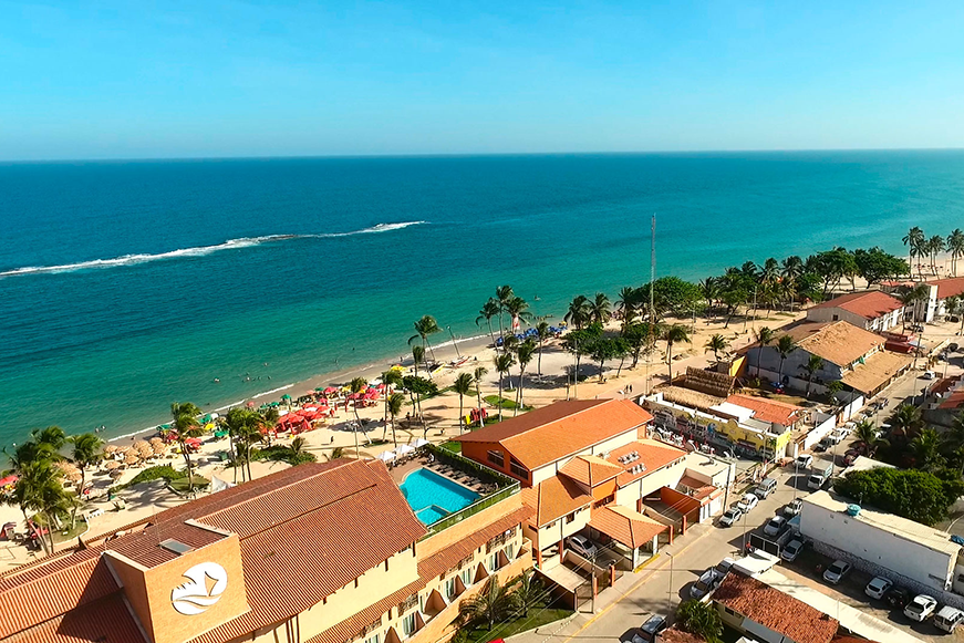 Vale a pena se hospedar na Praia do Francês - Vista aerea